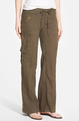 Kut From The Kloth 'Grayson' Linen And Cotton Cargo Pants Olive