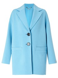 Marella Marte Double Faced Cocoon Coat Turquoise