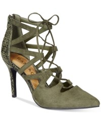 Rampage Sleepless Lace Up Pumps Women's Shoes Olive