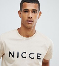 Nicce London Logo T Shirt In Beige Exclusive To Asos
