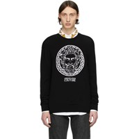 Versace Jeans Couture Black Adriano Crewneck Sweater