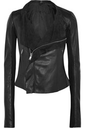 Rick Owens Leather Biker Jacket Black