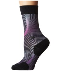 Nike Muscles Crew Sock Black Bright Grape Black Women's Crew Cut Socks Shoes Gray