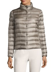 Peserico Light Weight Puffer Jacket Taupe