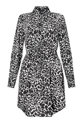 James Lakeland Animal Print Shirt Dress Black