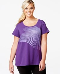 Ideology Plus Size Active Graphic T Shirt Only At Macy's Night Iris