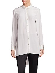 Eileen Fisher Silk Crepe Tunic Bone