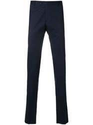 Tonello Creased Slim Fit Trousers Blue