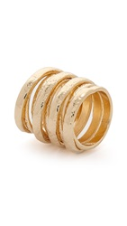 Jules Smith Designs Hammered Swirl Cage Ring Gold