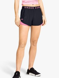 Under Armour Play Up 3.0 Training Shorts Black Lipstick