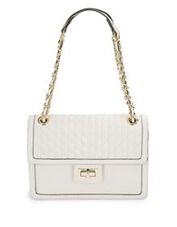 Karl Lagerfeld Patterned Leather Purse White