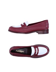 Avril Gau Loafers Maroon