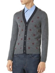 Gucci Bees And Stars Wool Cardigan