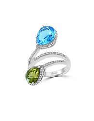 Effy Mosaic 14K White Gold And Multi Colored Stone Ring