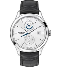 Montblanc Heritage Chronometrie 112540 Dual Time Watch Silver