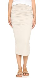 James Perse Shirred Tube Skirt Driftwood