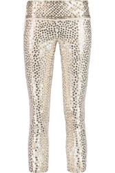 Isabel Marant Carly Sequined Skinny Leg Jeans White