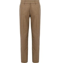 Noon Goons Houndstooth Cotton Trousers Brown