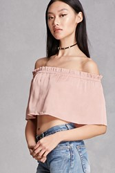 Forever 21 Off The Shoulder Flounce Top