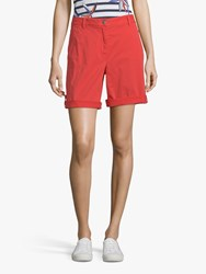 Betty Barclay Cotton Shorts Hibiscus Red