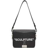 Off White Black 'Sculpture' Binder Clip Bag