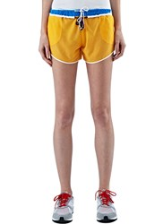 Bobby Kolade Double Drawstring Mesh Shorts Yellow