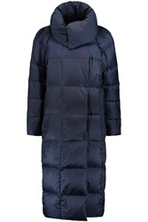 Add Reversible Quilted Shell Down Coat Blue