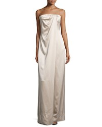 Kaufman Franco Strapless Draped Front Jumpsuit Desert