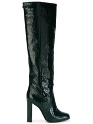 Pollini Knee High Boots Green