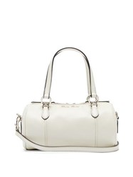 Miu Miu Mini Leather Bowling Bag White