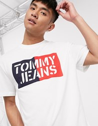 Tommy Jeans Box Logo T Shirt In White