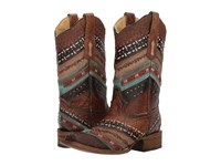 Corral Boots A3424 Turquoise Brown Cowboy Blue