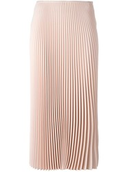 Cedric Charlier Pleated Mid Skirt Pink Purple
