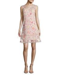 Elie Tahari Jayla Embroidered Silk Organza Dress Aura