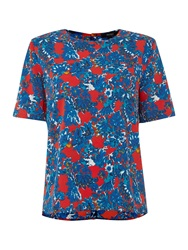 Therapy Floral Scratch Print Blouse Multi Coloured