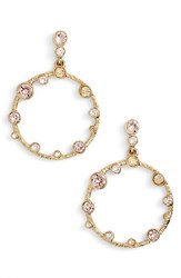 Oscar De La Renta Women's Frontal Hoop Crystal Earrings