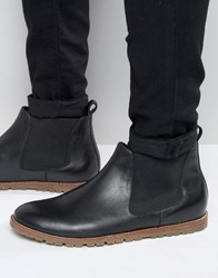 Frank Wright Chelsea Boots In Black Leather Black