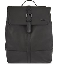 Hugo Boss Melor Grained Leather Backpack Black