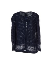 Chiara Bertani Cardigans Dark Blue