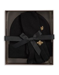 Bcbgmaxazria Two Piece Bee Beanie And Gloves Set Grey