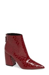 Topshop Houston Bootie Red