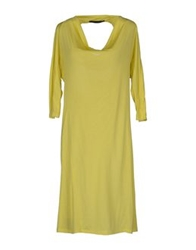 Jandcompany Knee Length Dresses Yellow