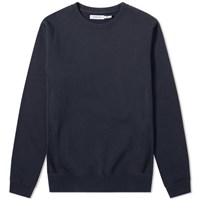 Nonnative Coach Over Dyed Crew Neck Sweatshirt Blue