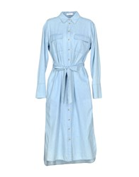 Equipment Femme Dresses 3 4 Length Dresses Sky Blue