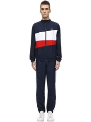 Lacoste Nylon Tracksuit Red