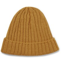 De Bonne Facture Ribbed Alpaca And Wool Blend Beanie Yellow