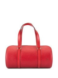 Louis Vuitton Vintage Soufflot Handbag Red