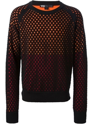 Y 3 Perforated Sweater Black