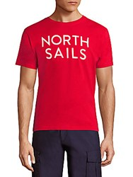 North Sails Logo Printed Tee Red