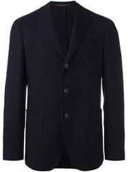 The Gigi Three Button Blazer Blue